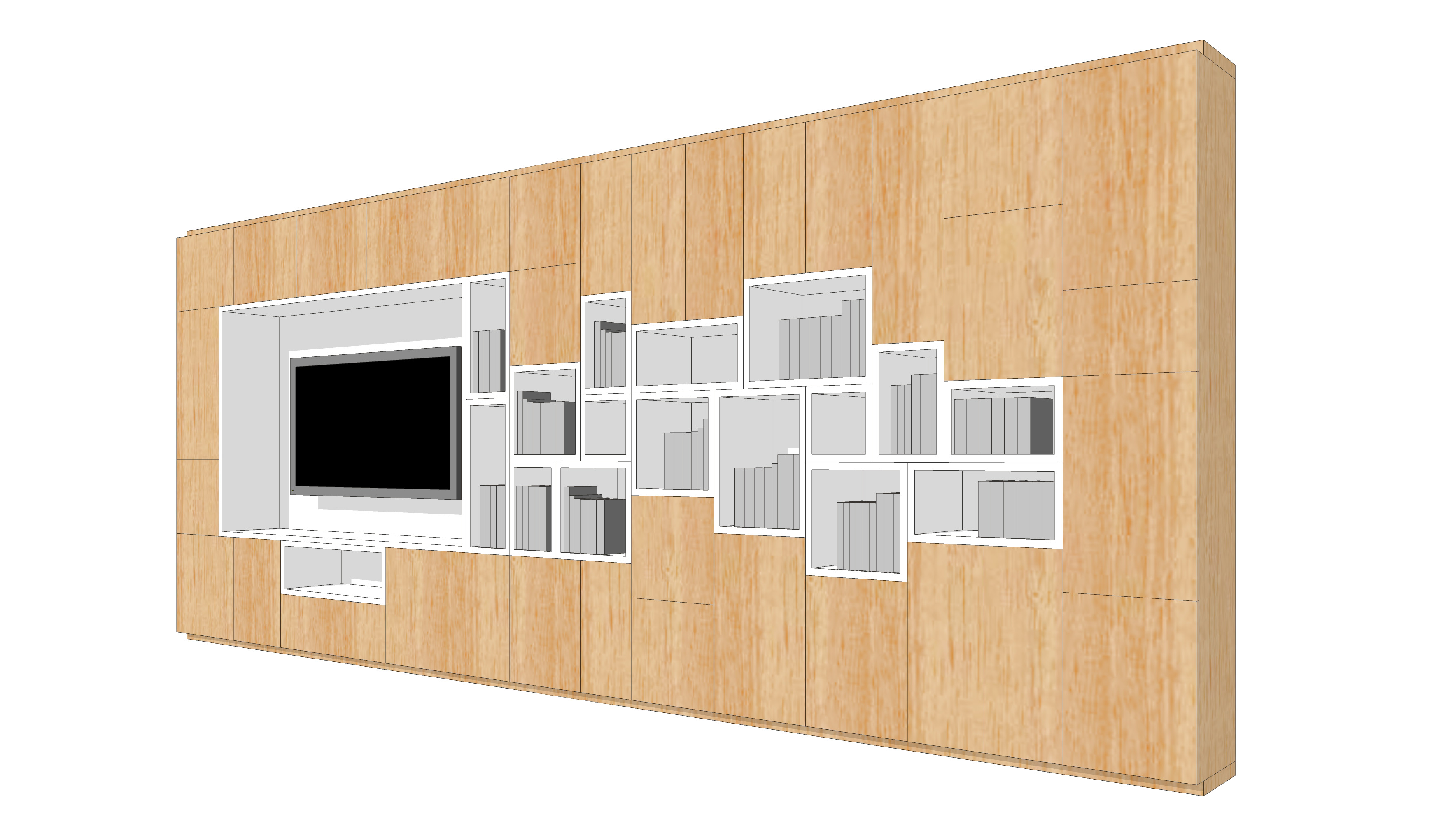 wall storage-cells-wood-side 2