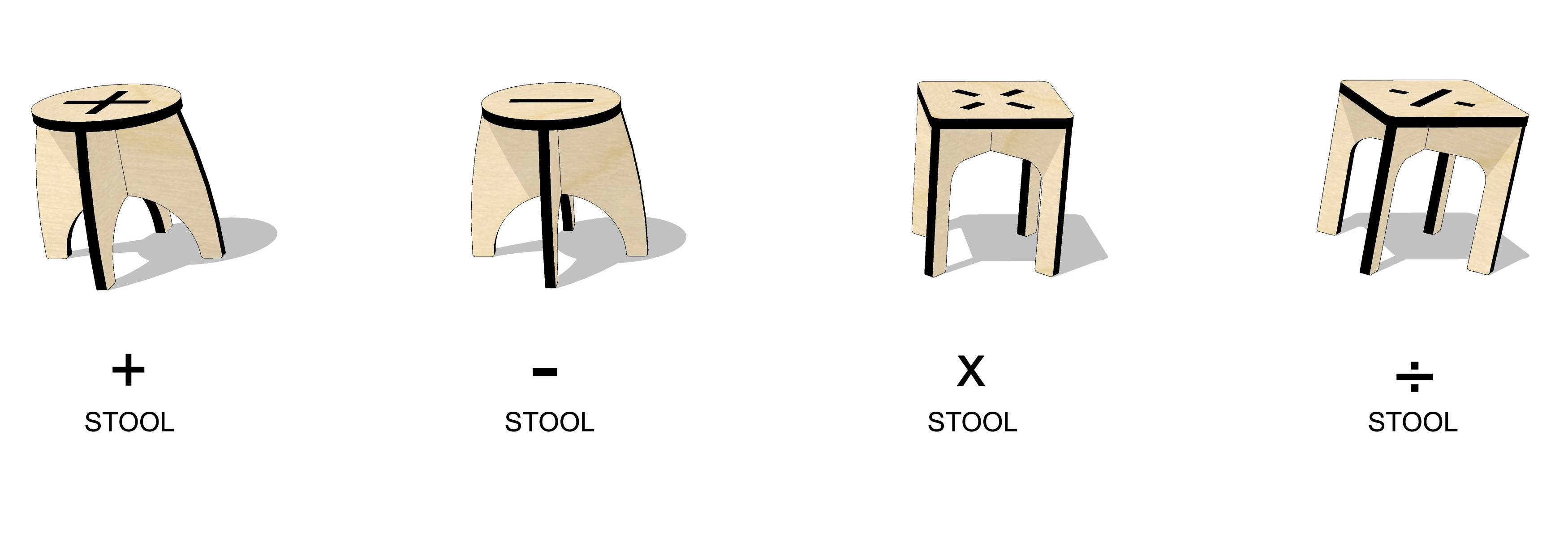 ta.le objects - ARITHMETIC 300 STOOLS SERIES AXO