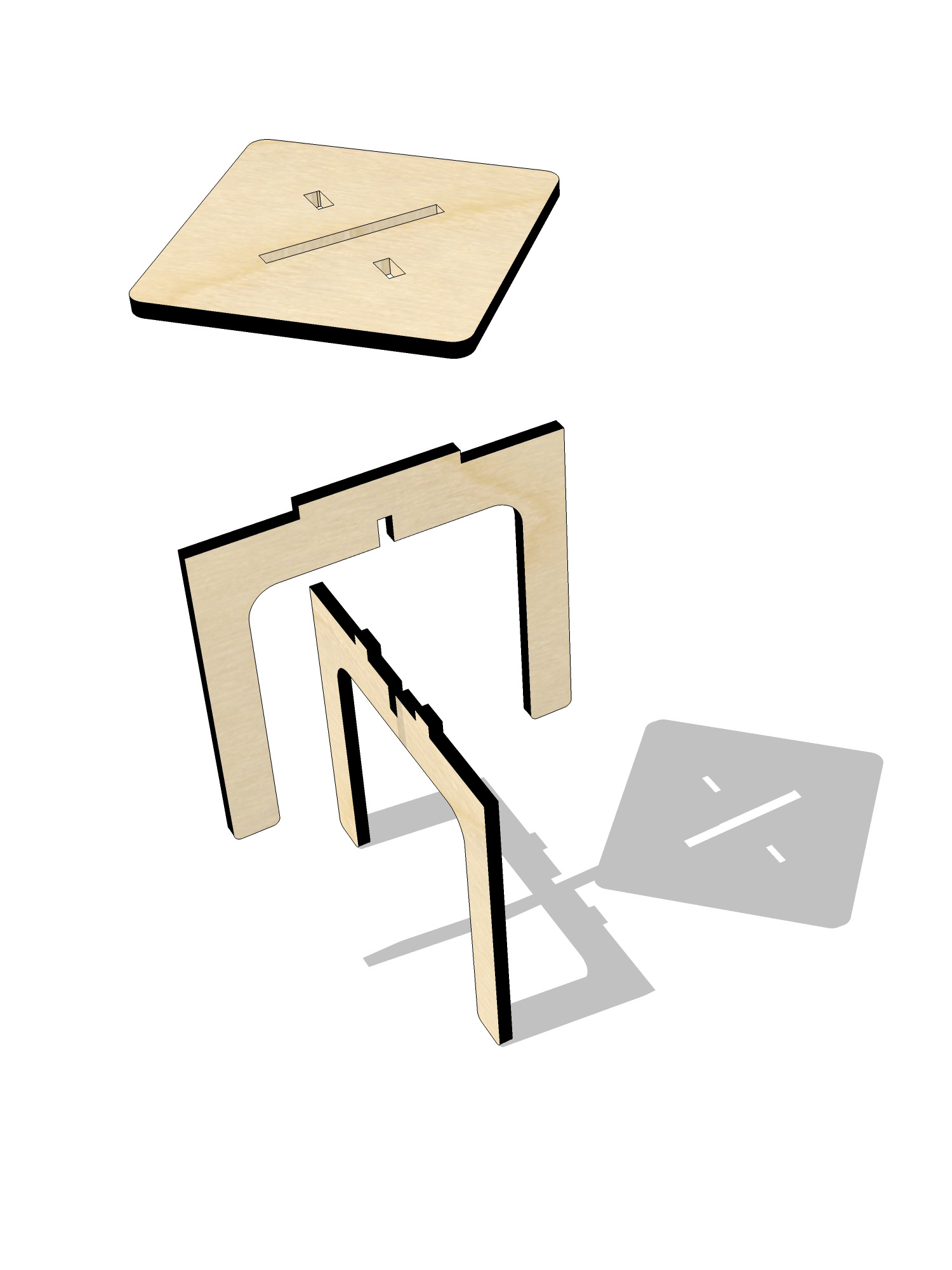 ta.le objects - ARITHMETIC 450 DIVISION STOOL EXPLODED 1