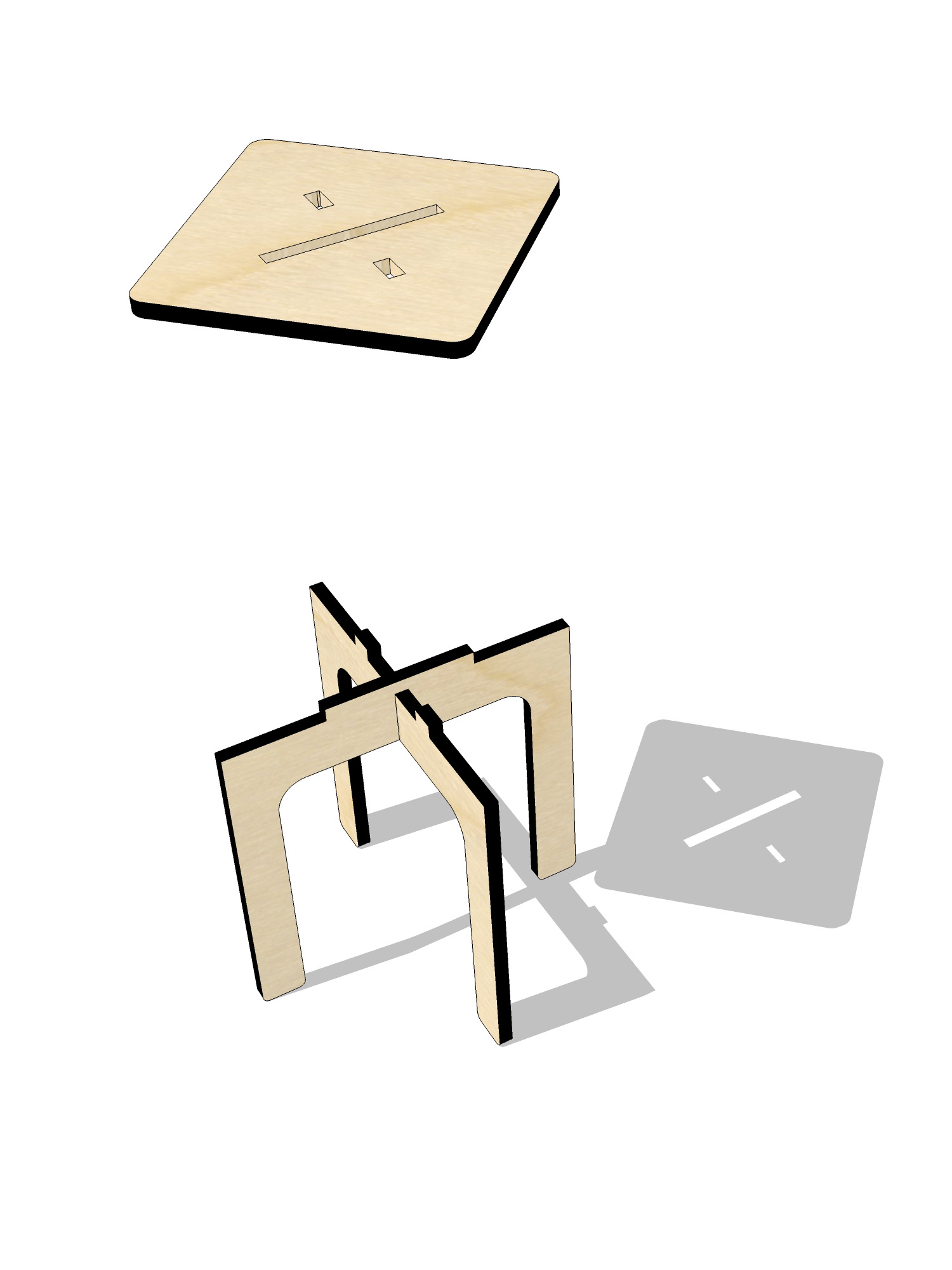 ta.le objects - ARITHMETIC 450 DIVISION STOOL EXPLODED 2