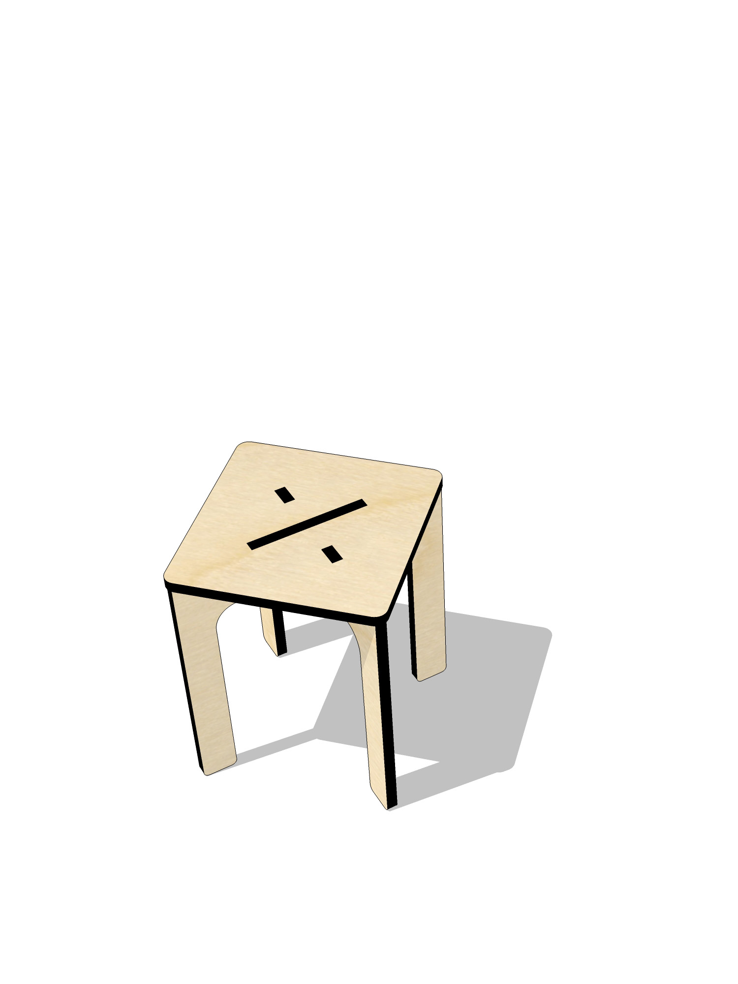 ta.le objects - ARITHMETIC 450 DIVISION STOOL EXPLODED 3