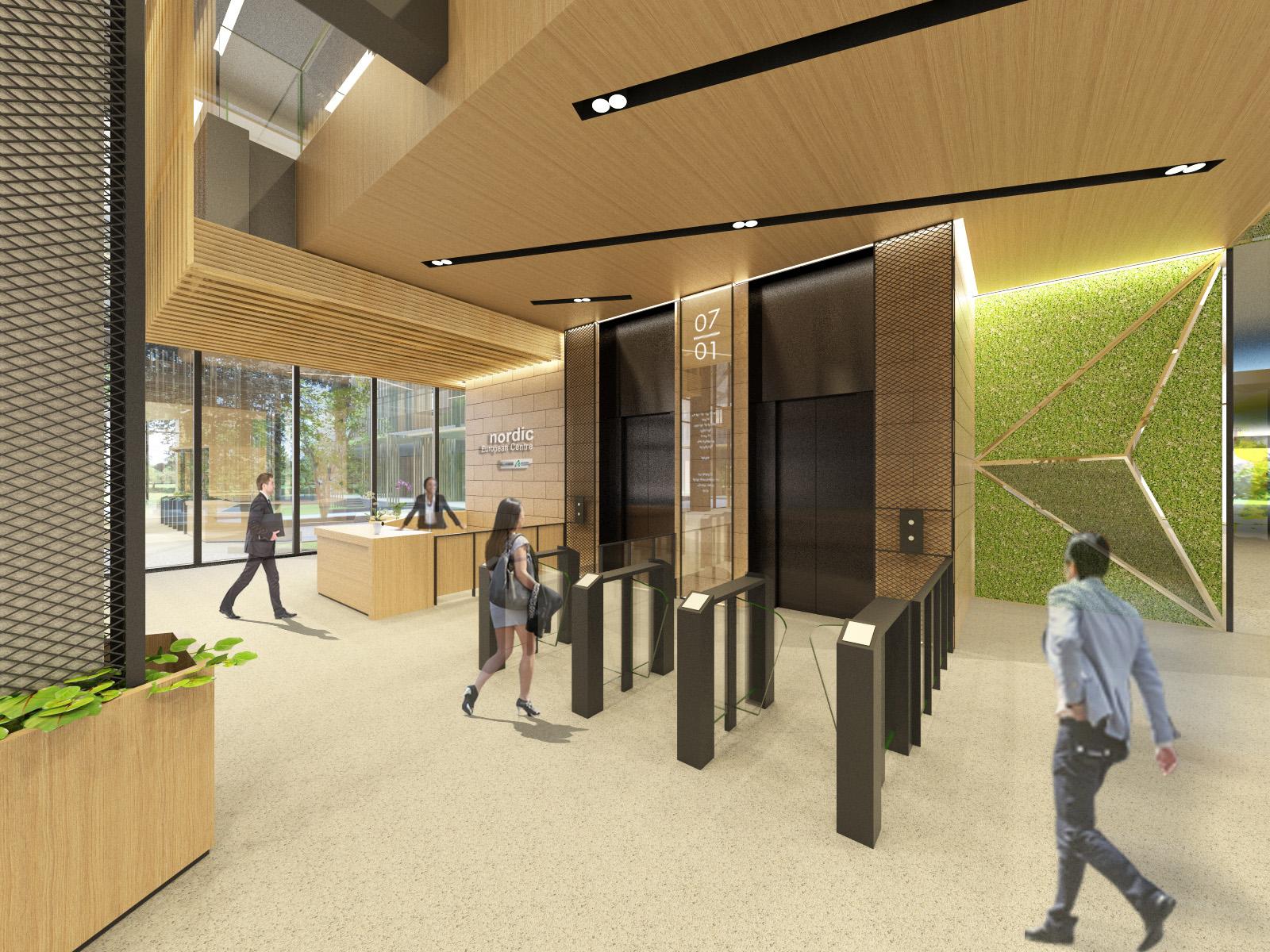 NEC Lift lobby
